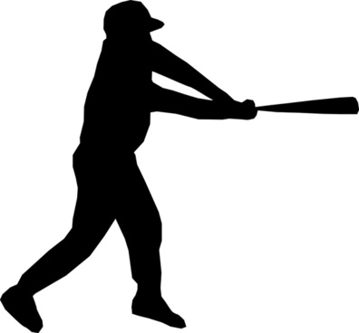 Baseball player silhouette