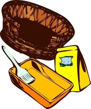 Basket Paint Cat Food clip art
