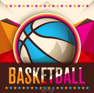 basketball abstract poster