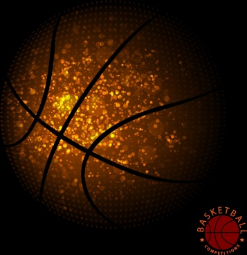 basketball background glittering ball decoration