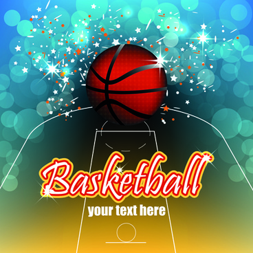 basketball creative poster vector