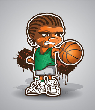 basketball player emoticon