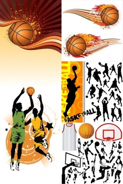 basketball silhouette vector