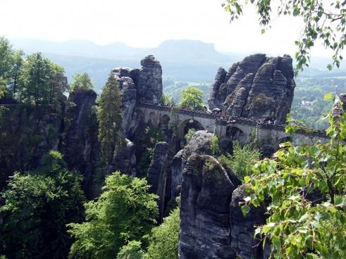 bastei schrammsteine elbe sandstone mountains