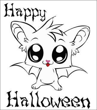 bat for halloween white