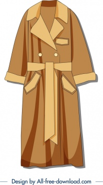 bathrobe template flat brown design