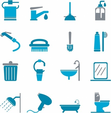 Bathroom Icons - Color