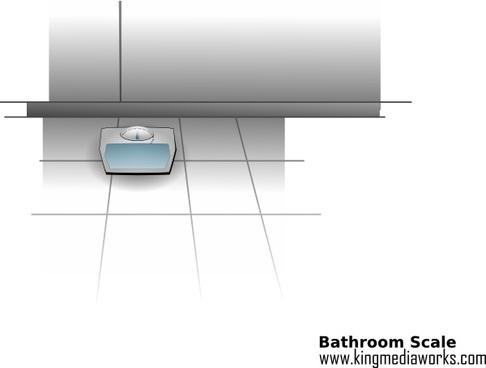 Bathroom Scale clip art