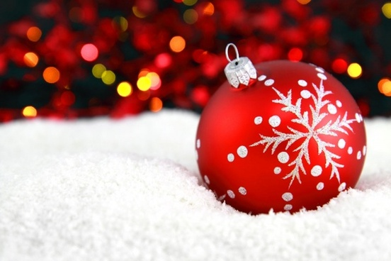 bauble in snow