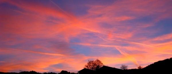bavaria germany sunset