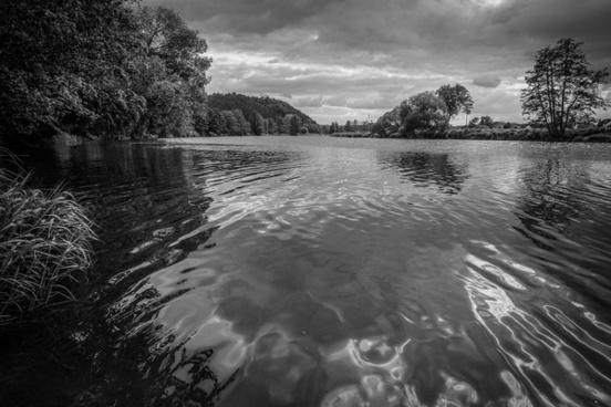 bavarian river landscape