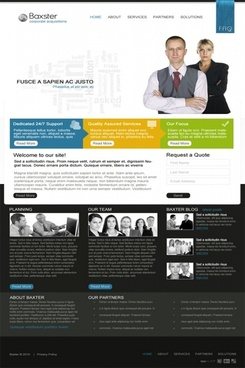 Baxter Corporate Business PSD Template