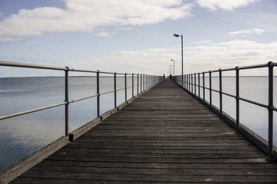 bay beach boardwalk bridge coast dock fence harbour