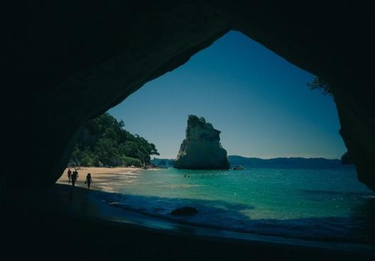 bay beach caribbean cave coast coastline holiday