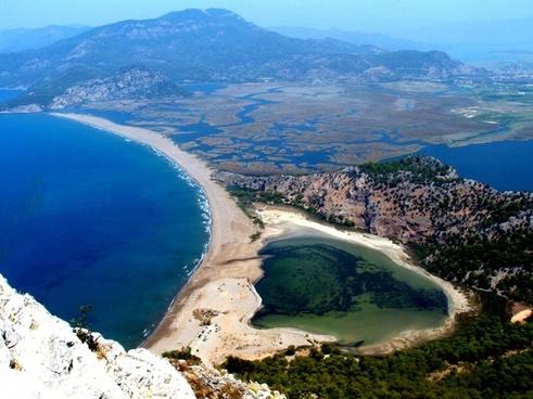 bay beach coast coastline daytime idyllic island