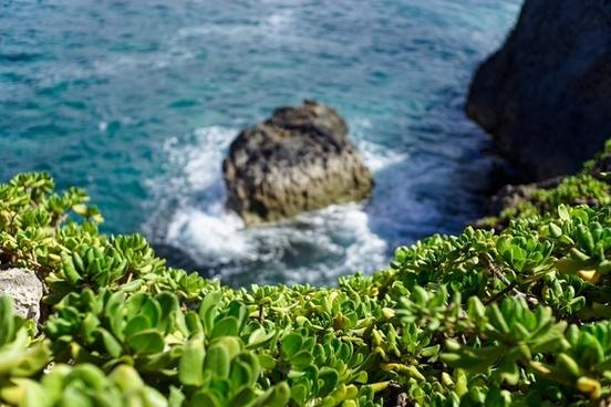 bay beach coast coastline landscape nature nobody