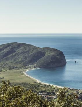 bay beach coast island landscape mountain nature