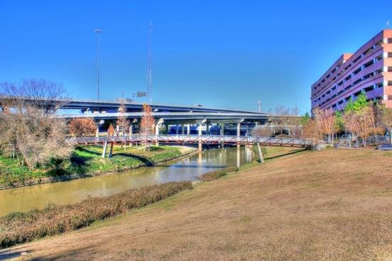 bayou and bridges in houston texas