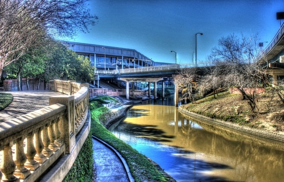 bayou river in the city in houston texas