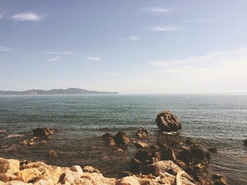 beach beautiful calm coast horizon island lake