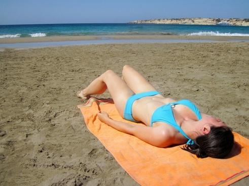 beach bikini blue