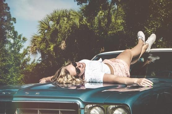 beach bikini car child dream female girl nude