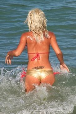 beach bikini girl