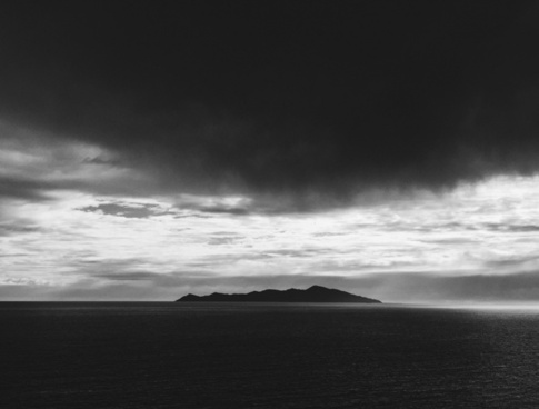 beach black and white cloud dark landscape light