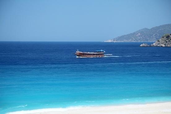 beach blue boat