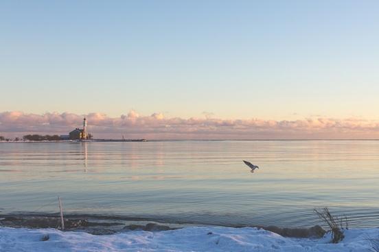 beach boat calm coast dawn fisherman lake landscape