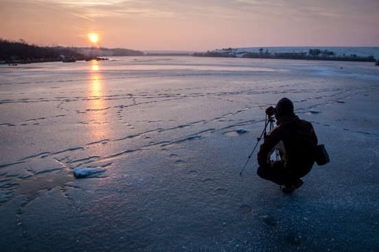 beach boat coast dawn dusk evening fisherman lake