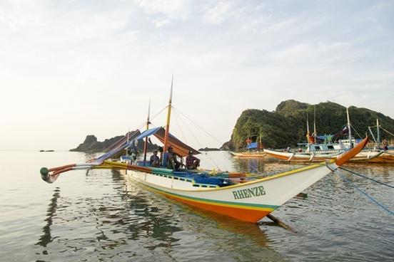 beach boat coast fisherman fishing boat harbor