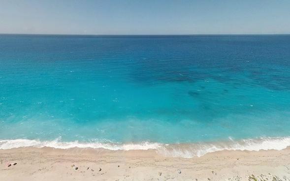 beach caribbean coast coastline holiday horizon hot