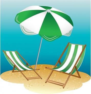 Beach Chair and Parasol