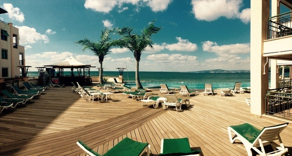 beach chair coast coastline idyllic leisure luxury