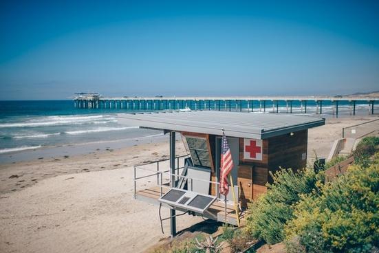 beach chair coast holiday leisure nobody ocean