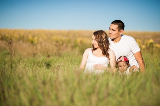 beach child couple field girl grass love maternity