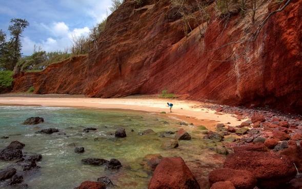 beach cliffs coast desert geology lake landscape