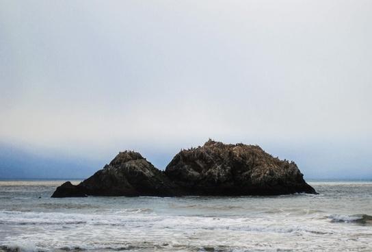 beach cliffs coast holiday island landscape nature