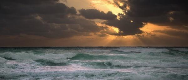 beach cloud coast dawn dramatic dusk evening