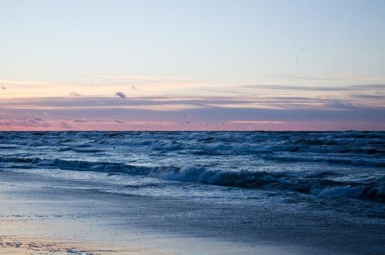 beach cloud coast dawn dusk horizon landscape