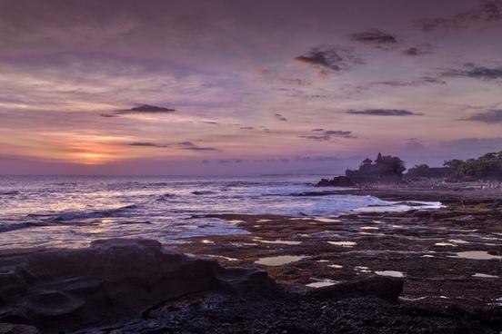 beach cloud coast dusk evening landscape nobody