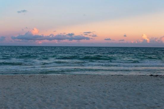 beach cloud coast evening horizon landscape morning