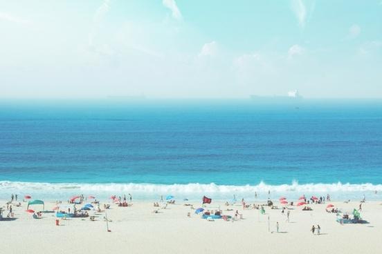 beach cloud coast exotic holiday island landscape