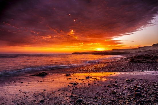 beach cloud dawn dusk evening landscape nature
