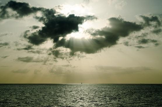 beach cloud horizontal lake landscape nature nobody