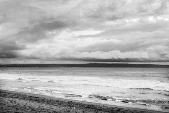 beach cloud landscape ocean sea shore sky storm