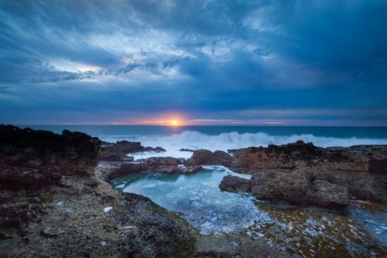 beach coast coastline daytime dusk evening holiday