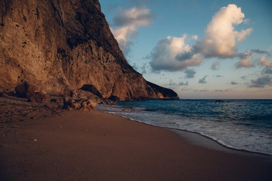 beach coast coastline daytime evening holiday island