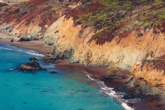 beach coast coastline daytime holiday island